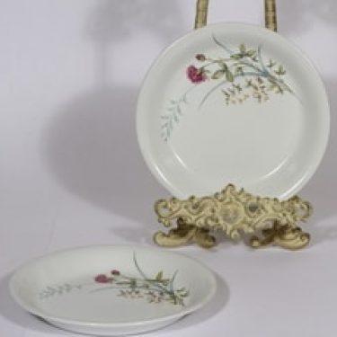 Arabia Pellervo lautaset, 2 kpl, suunnittelija , pieni, serikuva, kukka-aihe