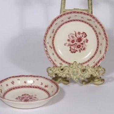 Arabia Suomen kukka kulhot, punainen, 2 kpl, suunnittelija , pieni, kuparipainokoriste, kukka-aihe