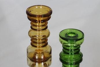 Riihimäen lasi Carmen kääntömaljako, eri kokoja, 2 kpl, suunnittelija Tamara Aladin, eri kokoja