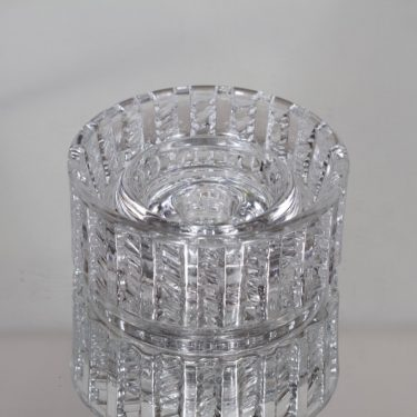 Riihimäen lasi Katja kynttilänjalka, kirkas, suunnittelija Eero Rislakki,