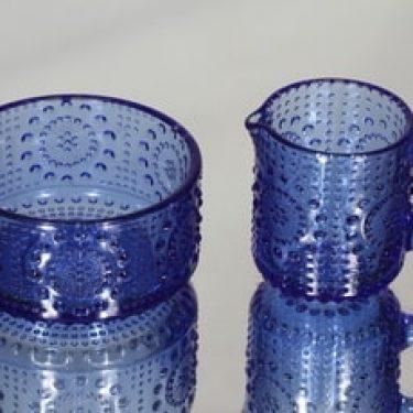 Riihimäen lasi 5565|5566 sokerikko ja kermakko, sininen, suunnittelija Nanny Still,