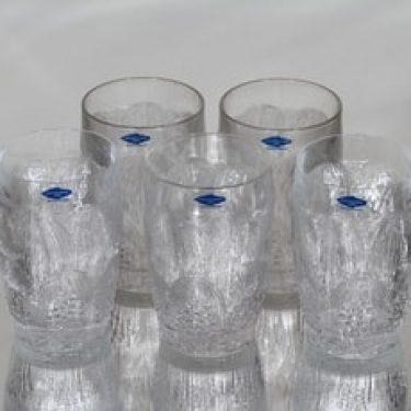 Nuutajärvi Pioni lasit, 20 cl, 5 kpl, suunnittelija Oiva Toikka, 20 cl