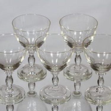 Riihimäen lasi Thyla lasit, kirkas, 5 kpl, suunnittelija Tyra Lundgren,