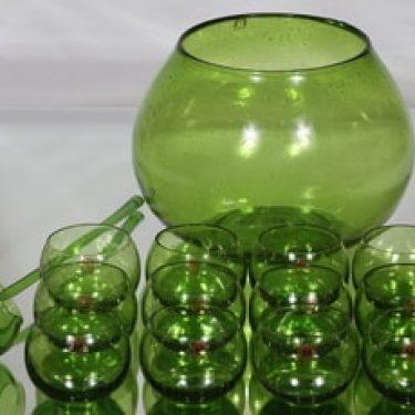 Humppila Talonpoika boolimalja, -kauha ja lasit 12 kpl, vihreä, 12 kpl, suunnittelija ,