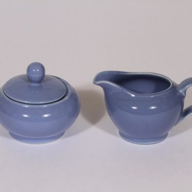 Arabia R sugar bowl and creamer, blue
