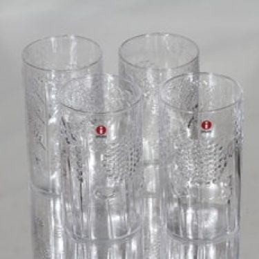 Nuutajärvi Flora lasit, 30 cl, 4 kpl, suunnittelija Oiva Toikka, 30 cl