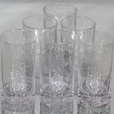 Iittala Kalinka lasit, kirkas, 6 kpl, suunnittelija Timo Sarpaneva, 40 cl, 40 cl