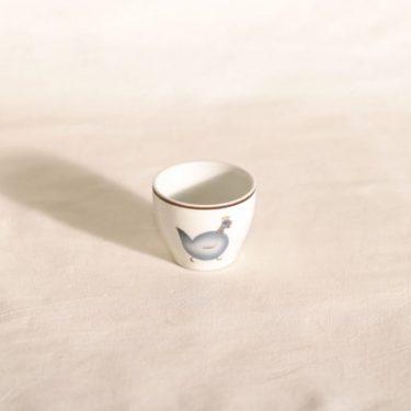 Arabia H munakuppi, kukkokoriste, suunnittelija Gunvor Olin-Grönqvist, kukkokoriste, siirtokuva