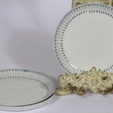 Arabia Heini lautaset, 3 kpl, suunnittelija Raija Uosikkinen, pieni, kuparipainokoriste