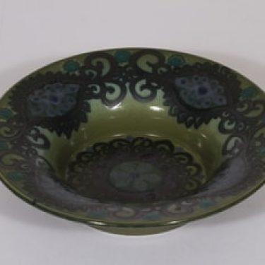 Arabia koristekulho, käsinmaalattu, suunnittelija Hilkka-Liisa Ahola, käsinmaalattu, signeerattu