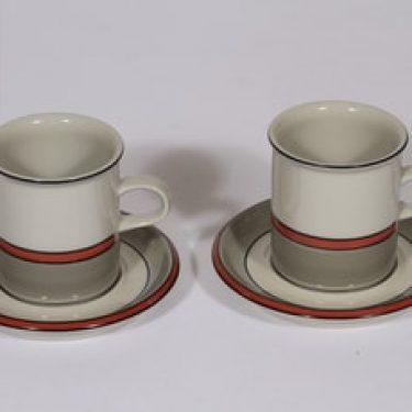 Arabia Aslak kahvikupit, 2 kpl, suunnittelija , raitakoriste