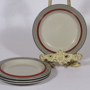 Arabia Aslak lautaset, 4 kpl, suunnittelija , pieni, raitakoriste