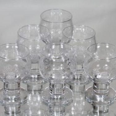 Nuutajärvi Silja lasit, 15 cl, 5 kpl, suunnittelija Heikki Orvola, 15 cl