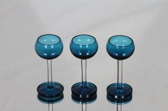 Riihimäen lasi Harlekiini liköörilasit, 3 cl, 3 kpl, suunnittelija Nanny Still, 3 cl