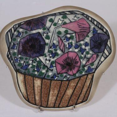 Arabia koristelaatta, Päivänsini, suunnittelija Heljä Liukko-Sundström, Päivänsini, Kukka-aihe