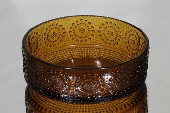 Riihimäen lasi Grapponia kulho, ruskea, suunnittelija Nanny Still,