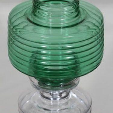 Riihimäen lasi Apollo kynttilälyhty, vihreä, suunnittelija Nanny Still,