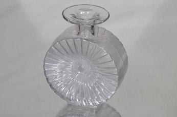 Riihimäen lasi Aurinkopullo koristepullo, kirkas, suunnittelija Helena Tynell,