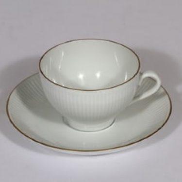 Arabia Aurora kahvikuppi, valkoinen, suunnittelija ,