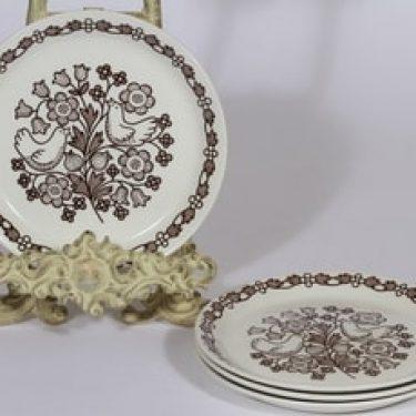 Arabia Sirkku lautaset, 4 kpl, suunnittelija Esteri Tomula, serikuva, pieni