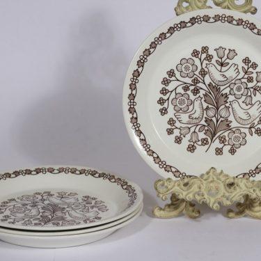 Arabia Sirkku lautaset, matala, 4 kpl, suunnittelija Esteri Tomula, matala, serikuva