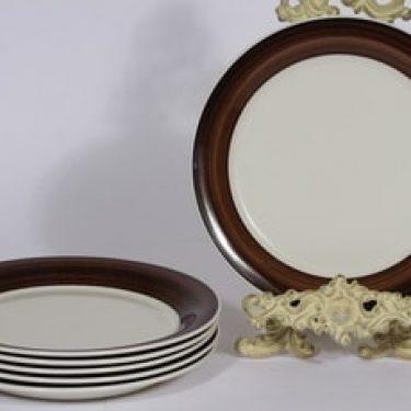 Arabia Inari lautaset, matala, 6 kpl, suunnittelija Göran Bäck, matala