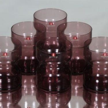 Iittala Tsaikka lasit, lila, 6 kpl, suunnittelija Timo Sarpaneva,