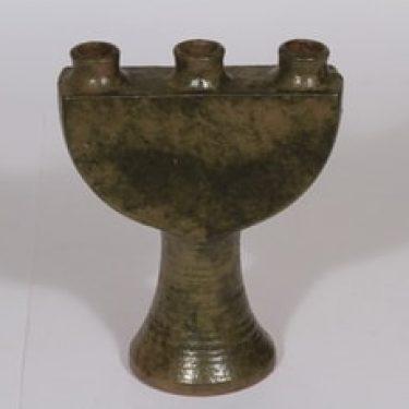 Kupittaan savi 1582 kynttilänjalka, käsinmaalattu, suunnittelija , käsinmaalattu
