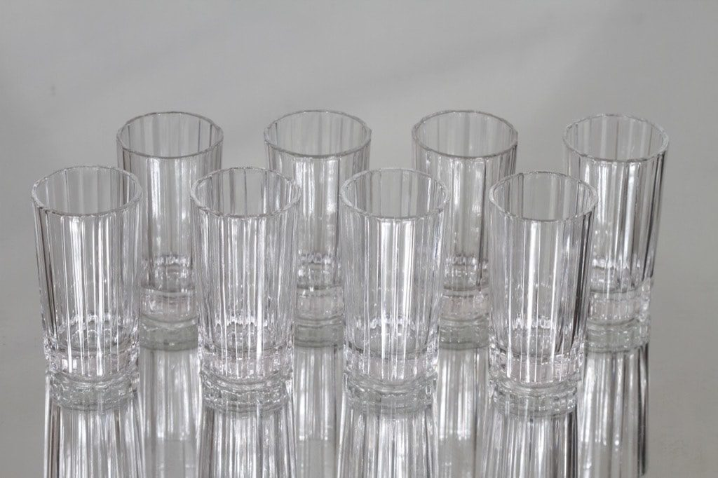 Arabia Spektro lasit, 4 cl, 8 kpl, suunnittelija Heikki Orvola, 4 cl