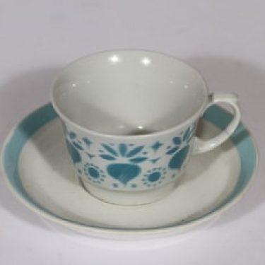 Arabia Retikka kahvikuppi, turkoosi, suunnittelija , puhalluskoriste
