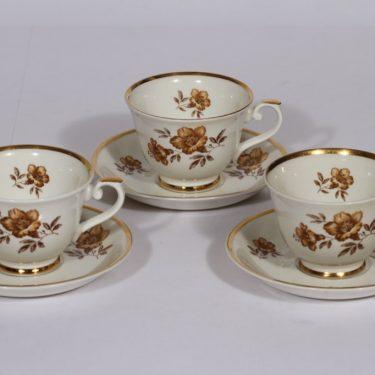 Arabia Myrna kahvikupit, 3 kpl, suunnittelija , serikuva