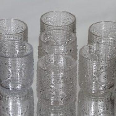 Riihimäen lasi Grapponia juomalasit, 16 cl, 7 kpl, suunnittelija Nanny Still, 16 cl