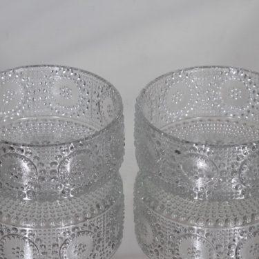 Riihimäen lasi Grapponia annoskulhot, kirkas, 2 kpl, suunnittelija Nanny Still,
