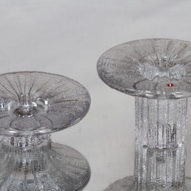 Iittala Bolero kynttilänjalat, eri kokoja, 2 kpl, suunnittelija Timo Sarpaneva, eri kokoja