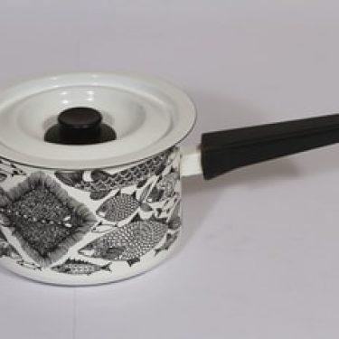 Finel Neptun kasari, valkoinen, suunnittelija Esteri Tomula, serikuva, retro
