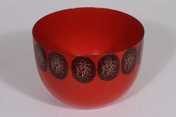 Finel kulho, punainen, suunnittelija , serikuva, retro