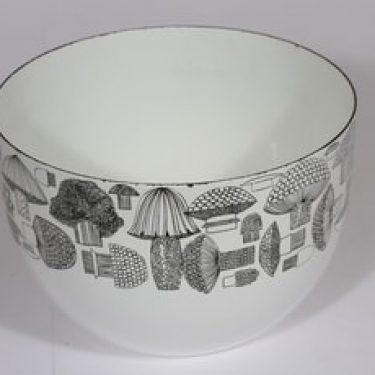 Finel Tatti kulho, valkoinen, suunnittelija Esteri Tomula, serikuva, retro