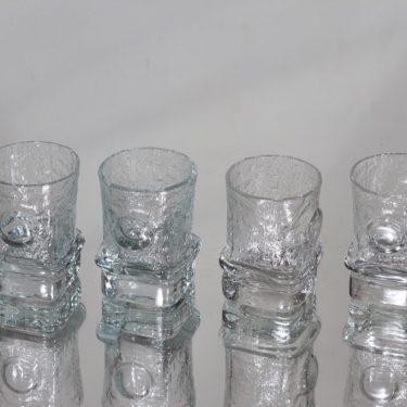 Riihimäen lasi Pikku-Matti snapsilasit, kirkas, 4 kpl, suunnittelija Helena Tynell, pieni