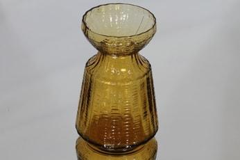 Riihimäen lasi Hyasintti maljakko, amber, suunnittelija Tamara Aladin, pieni