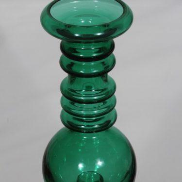 Riihimäen lasi Carmen kääntömaljakko, vihreä, suunnittelija Tamara Aladin,