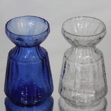 Riihimäen lasi Hyasintti maljakot, kirkas|sininen, 2 kpl, suunnittelija Tamara Aladin, pieni