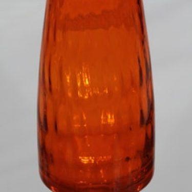 Riihimäen lasi 1432 maljakko, oranssi, suunnittelija Tamara Aladin, ret