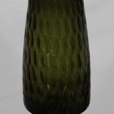Riihimäen lasi 1432 maljakko, oliivinvihreä, suunnittelija Tamara Aladin,