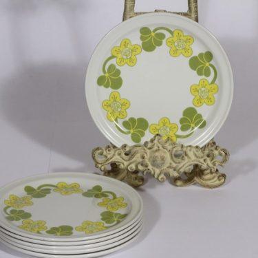 Arabia Sanna lautaset, 6 kpl, suunnittelija , pieni, serikuva, retro