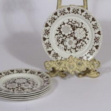 Arabia Gardenia lautaset, ruskea, 5 kpl, suunnittelija , pieni, serikuva