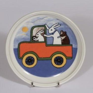 Arabia lasten lautanen, Matkalla maailmalle, suunnittelija Heljä Liukko-Sundström, Matkalla maailmalle, serikuva