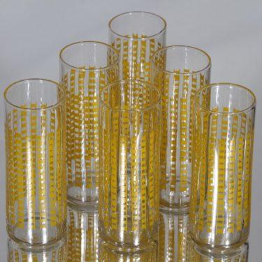 Riihimäen lasi 1799 lasit, 14 cl, 6 kpl, suunnittelija Helena Tynell, 14 cl, serikuva