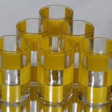 Marimekko lasit, 25 cl, 6 kpl, suunnittelija Hilkka Rahikainen, 25 cl, serikuva
