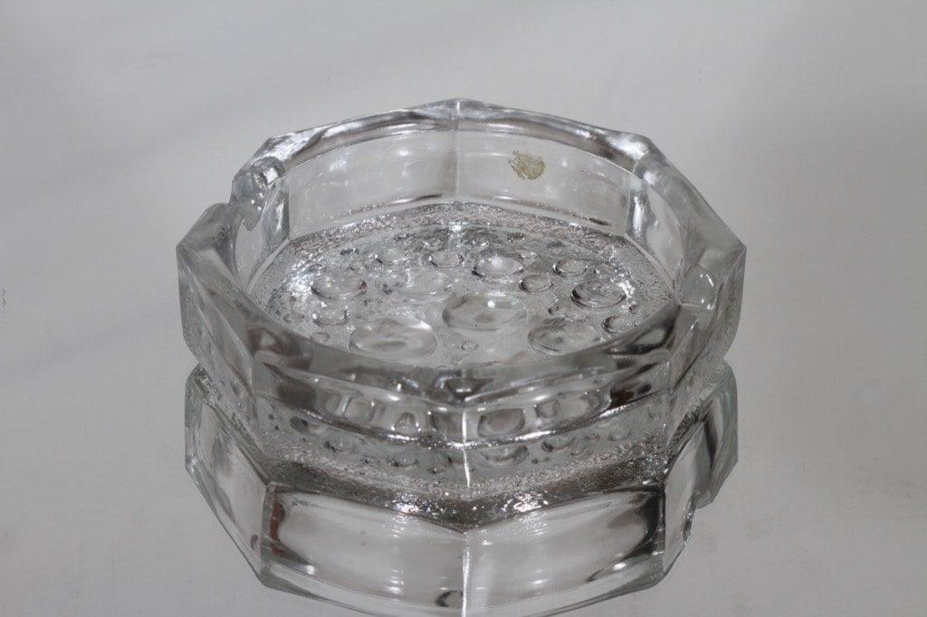 Riihimäen lasi Stella Polaris tuhka-astia, kirkas, suunnittelija Nanny Still,