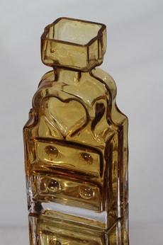 Riihimäen lasi Piironki maljakko, amber, suunnittelija Helena Tynell,